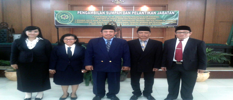 Pengambilan Sumpah dan Pelantikan Jabatan Panitera, Sekretaris dan Para Kepala sub-bagian.